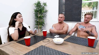 GayWire - Strip Poker - Winner Takes All - Austin Andrews and Erick Summers