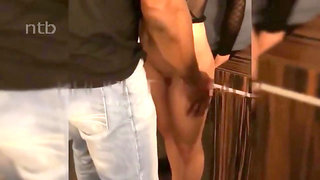 Fit sexy hot wife enjoys BBC on vacation in hotel