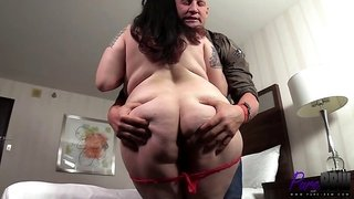 ultra fat chick dicked by a bald freak