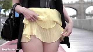 Jeny Smith - Windy Rainy Summer - public pussy flashing