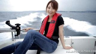 Hot ass Japanese girlfriend Akiho Yoshizawa gets fucked on a boat