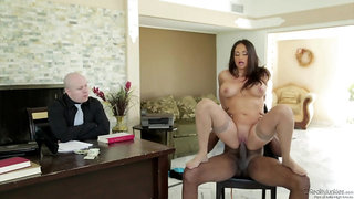 Thick Dark-Hued Spunk-Pump For Buxomy Coworker - Claudia Valentine