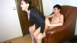 My Friends Mom Met Me At A Porn Casting And Then We Fucked Hard!