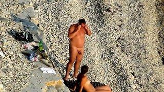Blowjob on beach