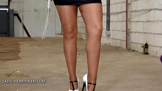Work hard to become my high heels and nylon slave