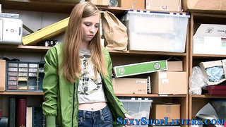 Shoplifting teen blonde