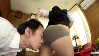 Japan office lady bottomless facesitting farting HD subtitles
