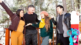 Aesthetic outdoor sex in the forest with Abigail Mac