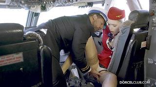 Anny Aurora hot stewardess porn video