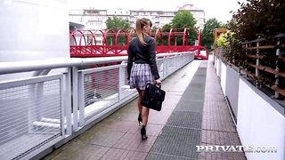 PrivateCom - Beautiful Brunette Silvia Dellai Butt Banged & Jizzed On!