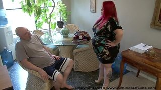 Obese mature wife takes big dick up her phat booty POV style