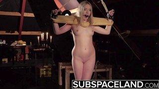 Handsome bondage girl punished and dominated by master BDSM porn
