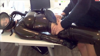 Latex Lucy in black latex outfi