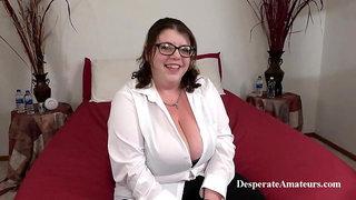 Casting Nikki, Desperate Amateurs, BBW MILF with big tits