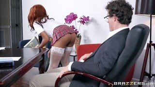 Fucked By Her Boss Right On The Office Desk
