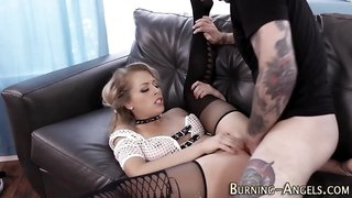 Tattooed emo gets drilled