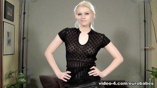 Yulia in Yulia Leather Skirt Babe - EuroBabesHd