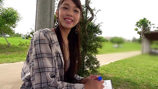 Nice asian amateur public pick up