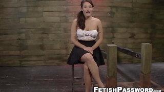 Asian sub Mena Li dominated by machines and big cock