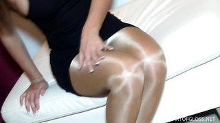 dina in shiny pantyhose