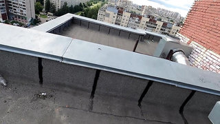 Extreme Blowjob on the roof ended in sex ( cum on face )