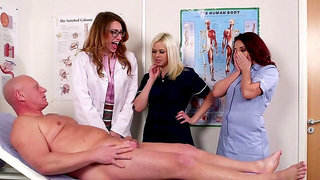 Seductive scenes when these nurses get intimate with an older patient