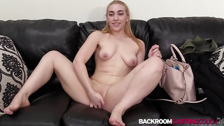 Youthful towheaded Penelope booty smashed in internal cumshot audition