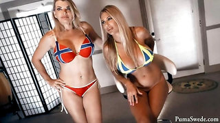 Behind The Scenes with Vicky Vette! Norway VS Sweden Pussy Challenge!
