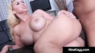 Kinky conversing massive melon Nina Kayy screws black knob driver!