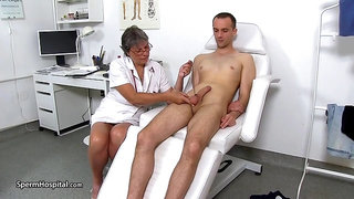 Sperm Hospital - Busty uniform lady Doris ball bondage therapy