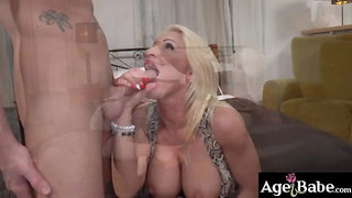 Stepmom Tiffany takes a messy hot facial for being one hot milf