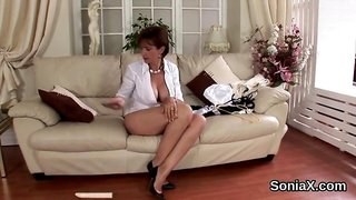 Cheating english mature lady sonia pops out her enormous balloons