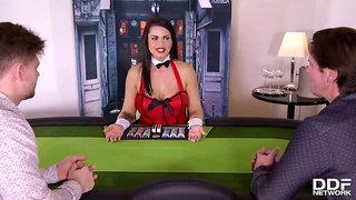 Ddf Network - Stacked Poker Girl Dp'Ed