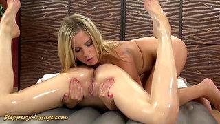 Nasty lesbian nuru porno massage