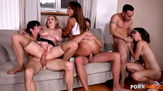Candy Alexa & her sex-ed students have wild group sex orgy in the classroom GP1481