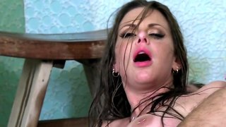 Fucking Rachel Roxxx in the roomy spa style shower