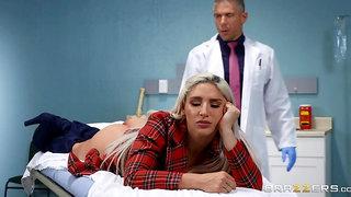 Doctor ass fucks blonde beauty in serious XXX plot