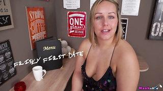 Chunky big breasted whore Ashley Rider masturbates her meaty pussy on floor