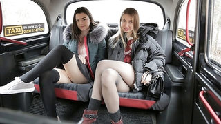 Hot-looking chicks Cherry Kiss, Hayli Sanders and Dominic Anna fuck in the car