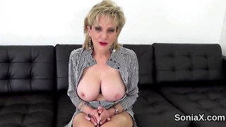 Unfaithful uk milf lady sonia exposes her monster melons