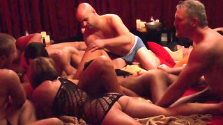 Hot couple gets fucked by new swingers