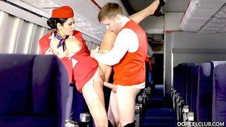 Mariska is a slutty stewardess who likes to get banged hard before each flight, for good luck