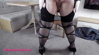Big tits Mature Sally the girdle goddess
