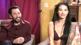Kat got dick drunk during BDSM anal sex after after tied up and toyed