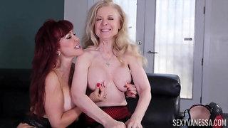 Nina Hartley horny GILF lesbian sex