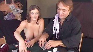 Sara Stone screwed in strip poker game