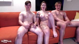 Blonde Hunk Boy Smashes Babe And Her Bi Boyfriend