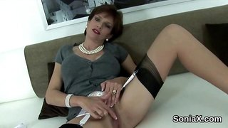 Cheating english milf lady sonia presents her big knockers