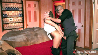 First time she gets stretched by cock in such hard scenes