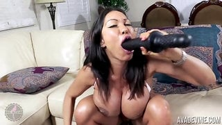 Extreme monster tits on brunette mom Ava Devine - anal toys, giant dildo, ass masturbation